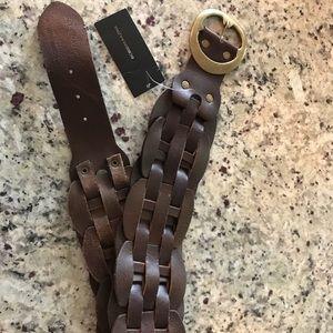 BCBG Maxazria Brown Leather Belt